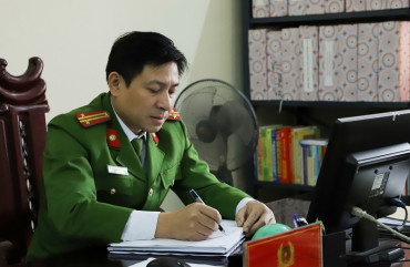 Trung tá Nguyễn Ngọc Sáng gương sáng trong học tập và làm theo Bác.
