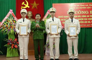 Điều động 6 Công an chính quy về xã Thạch Mỹ và xã Thịnh Lộc, huyện Lộc Hà