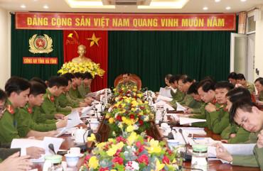Công an tỉnh Hà Tĩnh thành lập Ban Chỉ đạo phòng, chống dịch bệnh Covid-19