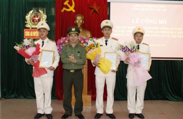 Công an Can Lộc: Công bố quyết định của Giám đốc Công an tỉnh về công tác cán bộ