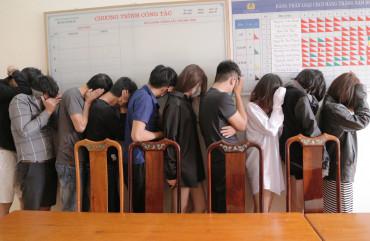 Công an Thành phố Hà Tĩnh bắt 11 đối tượng sử dụng trái phép chất ma túy