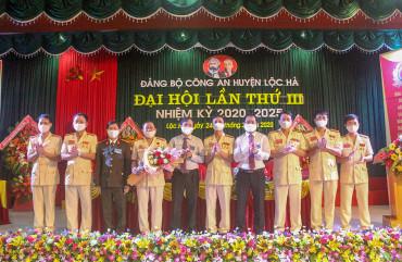 Đại hội Đảng bộ Công an huyện Lộc Hà lần thứ III