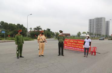 Công an thành phố Hà Tĩnh đảm bảo an ninh trật tự trong chống dịch Covid-19