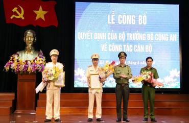 Công bố Quyết định bổ nhiệm 2 Phó giám đốc Công an Hà Tĩnh