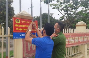 Nghi Xuân gắn hơn 700 bảng thông báo đường dây nóng tại 100% xã, thị trấn