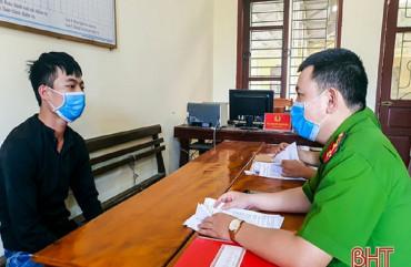 Công an Hương Sơn bắt đối tượng tàng trữ hồng phiến