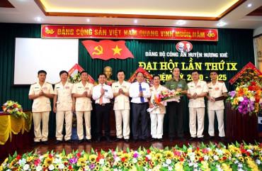 Đại hội Đảng bộ Công an huyện Hương Khê lần thứ IX, nhiệm kỳ 2020 – 2025