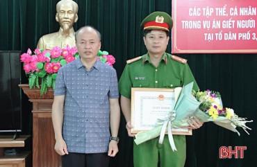 Trao thưởng 7 tập thể, cá nhân phá vụ án giết người dã man ở TX Hồng Lĩnh