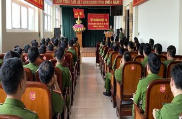 Công an Thạch Hà tập huấn nghiệp vụ cho lực lượng Công an xã, thị trấn chính quy
