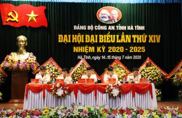 Khai mạc Đại hội Đảng bộ Công an tỉnh Hà Tĩnh lần thứ XIV, nhiệm kỳ 2020-2025
