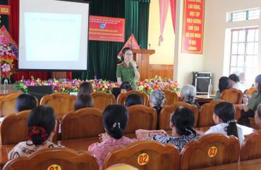 Hội Phụ nữ Công an Hà Tĩnh tuyên truyền phòng, chống bạo lực gia đình