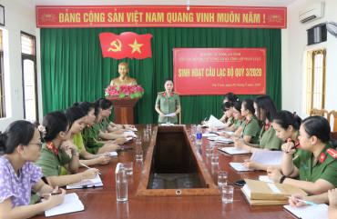 """Câu lạc bộ """"Phụ nữ Công an Hà Tĩnh với pháp luật"""" tăng cường các hoạt động tuyên truyền"""