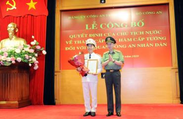 Thăng cấp bậc hàm Trung tướng đối với Thứ trưởng Trần Quốc Tỏ