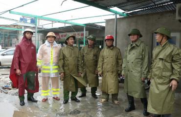 Đảm bảo 100% quân số trực phòng chống lụt bão trên địa bàn
