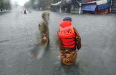 Thành phố Hà Tĩnh tiếp tục là trọng tâm của mưa lớn, cảnh báo ngập lụt