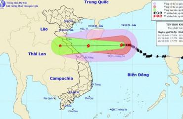 Bão số 8 cách quần đảo Hoàng Sa khoảng 160km