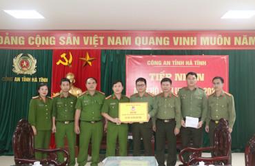 Học viện Cảnh sát nhân dân ủng hộ 100 triệu đồng cho Công an Hà Tĩnh