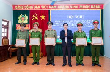 Công an Hương Sơn tổng kết đợt cao điểm tấn công trấn áp tội phạm, đảm bảo ANTT, bảo vệ các sự kiện chính trị quan trọng năm 2020