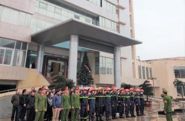 Huấn luyện nghiệp vụ PCCC tại Ngân hàng NN&PTNT Việt Nam