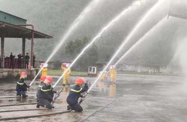 Thực tập Phương án chữa cháy, CNCH, ứng phó sự cố hóa chất tại tổng kho LPG Bắc Trung Bộ
