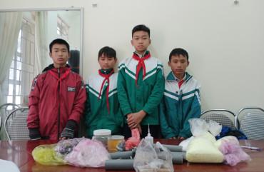 4 học sinh ởLộc Hà rủ nhau chế tạo pháo để sử dụng