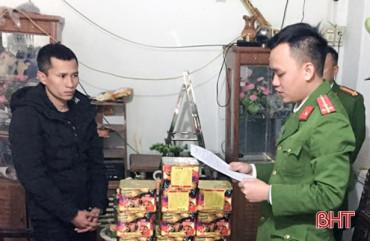 Công an các địa phương Hà Tĩnh phát hiện, bắt giữ 283 kg pháo cấm