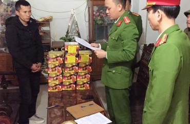 Công an Thành phố Hà Tĩnh liên tiếp thu giữ hơn 40kg pháo trong 2 ngày
