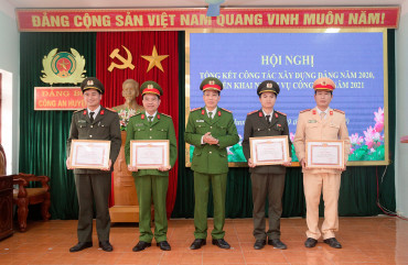 Đảng bộ Công an huyện Hương Sơn: Tổng kết công tác xây dựng Đảng năm 2020