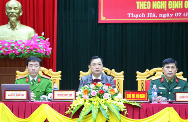 Huyện Thạch Hà: Tổng kết công tác Quốc phòng - An ninh năm 2020
