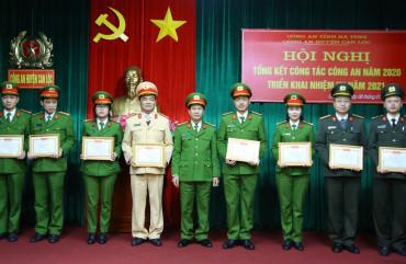 Công an huyện Can Lộc triển khai nhiệm vụ năm 2021