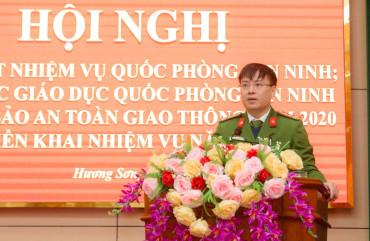 Hương Sơn triển khai nhiệm vụ quốc phòng - an ninh năm 2021