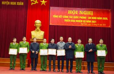 UBND huyện Nghi Xuân: tổng kết công tác Quốc phòng - An ninh năm 2020