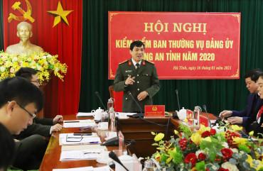 Ban Thường vụ Đảng ủy Công an tỉnh  kiểm điểm công tác lãnh đạo, chỉ đạo năm 2020