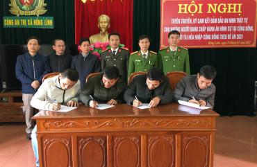 Tuyên truyền, ký cam kết đảm bảo ANTT đối với những người đang chấp hành án hình sự, người tái hòa nhập cộng đồng