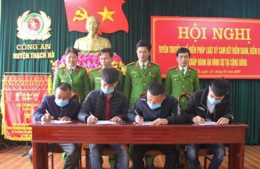 Công an huyện Thạch Hà tuyên truyền phổ biến pháp luật người chấp hành án hình sự tại cộng đồng
