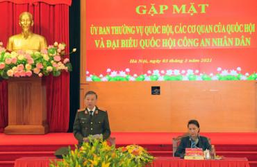 Lực lượng CAND đóng góp quan trọng vào thành công của nhiệm kỳ Quốc hội khóa XIV