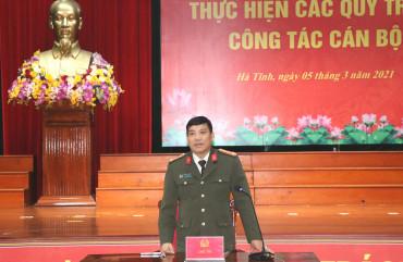 Công an Hà Tĩnh tổ chức các hội nghị thực hiện các quy trình về công tác cán bộ