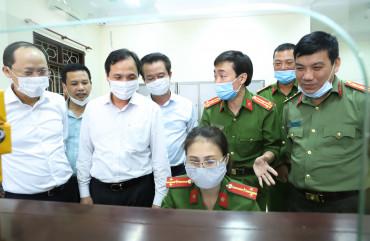 Bí thư Tỉnh ủy Hà Tĩnh kiểm tra tiến độ cấp căn cước công dân