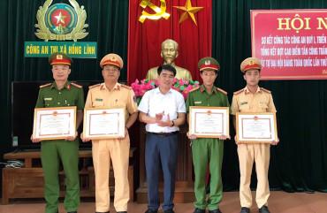 Công an thị xã Hồng Lĩnh sơ kết công tác Công an quý I năm 2021