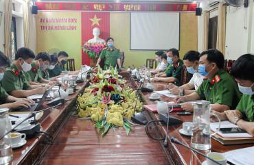 Đảm bảo ANTT công tác bầu cử gắn với phòng chống dịch Covid-19 ở thị xã Hồng Lĩnh