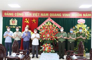 Lãnh đạo tỉnh chúc mừng 75 năm lực lượng An ninh nhân dân Công an Hà Tĩnh