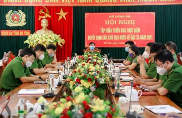 Công an tỉnh Hà Tĩnh triển khai công tác đặc xá năm 2021