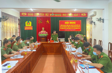 Đoàn kiểm tra BTV Đảng ủy Công an tỉnh làm việc với Đảng ủy Phòng Cảnh sát PCCC và CNCH