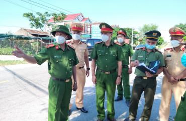Triển khai thực hiện quyết liệt công tác truy vết và đảm bảo an ninh, trật tự trong phòng chống dịch tại xã Tùng Lộc, huyện Can Lộc
