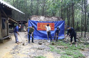 Khởi công xây dựng nhà nhân ái cho gia đình có hoàn cảnh khó khăn trên địa bàn xã Hương Lâm