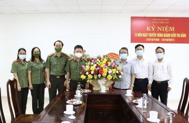 Công an Hà Tĩnh chúc mừng Ngày truyền thống các ban Đảng, văn phòng Tỉnh uỷ và Ngành kiểm tra Đảng