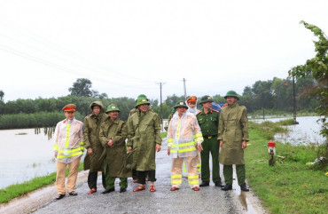 Lực lượng Công an sẵn sàng ứng phó với mưa lũ